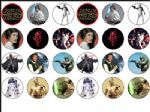 24 x Star Wars Edible Wafer Rice Paper Cup Cake Bun Top Toppers